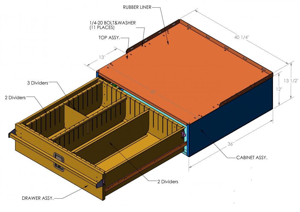 Truck Storage Cabinet TS 01